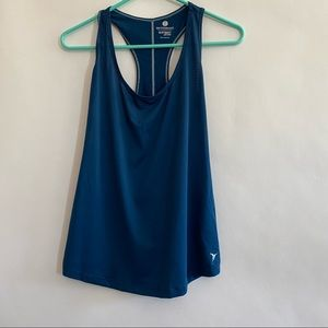 Jewel toned blue athletic tank top size small